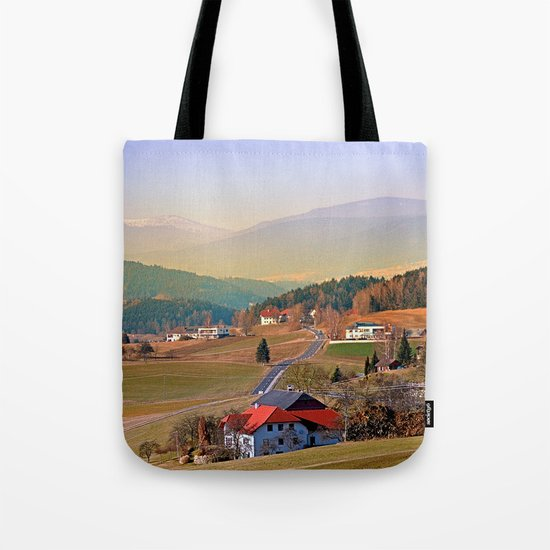 Country road in amazing panorama | landscape photography Tote Bag