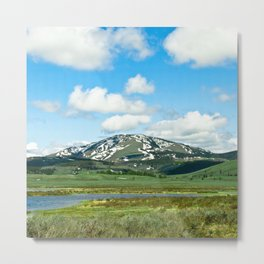 Yellowstone Mountain Metal Print