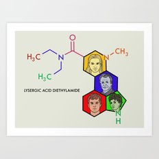 Lysergic Acid Diethylamide Art Print