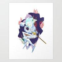 berserk Art Prints featuring Griffith by Kerederek