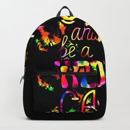 keep calm and be a hippie Backpack