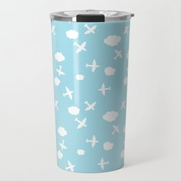 Airplane and cloud Travel Mug