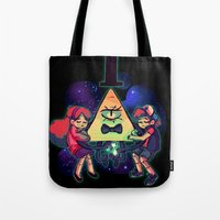 gravity falls Tote Bags featuring Gravity Falls by Erika Draw