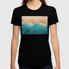 Ocean & Beach Aerial View T-shirt