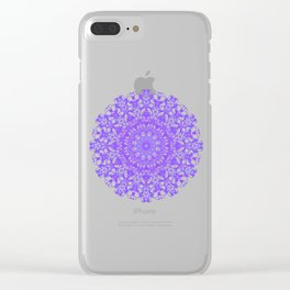Mandala 12 / 5 eden spirit purple lilac white Clear iPhone Case