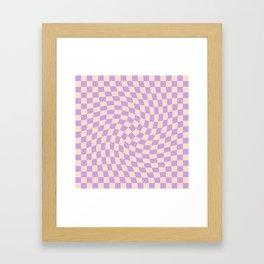 Check V - Lilac Twist — Checkerboard Print Framed Art Print