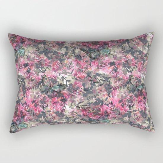 Butterfly in the Garden Rectangular Pillow
