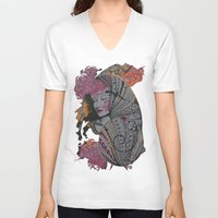 shell V-neck T-shirts featuring shell by dixis84