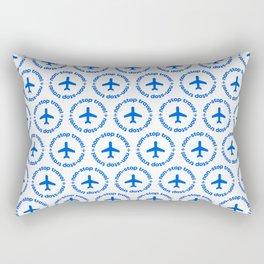 Non-stop Travel. Travel The World. Happy Quote Rectangular Pillow