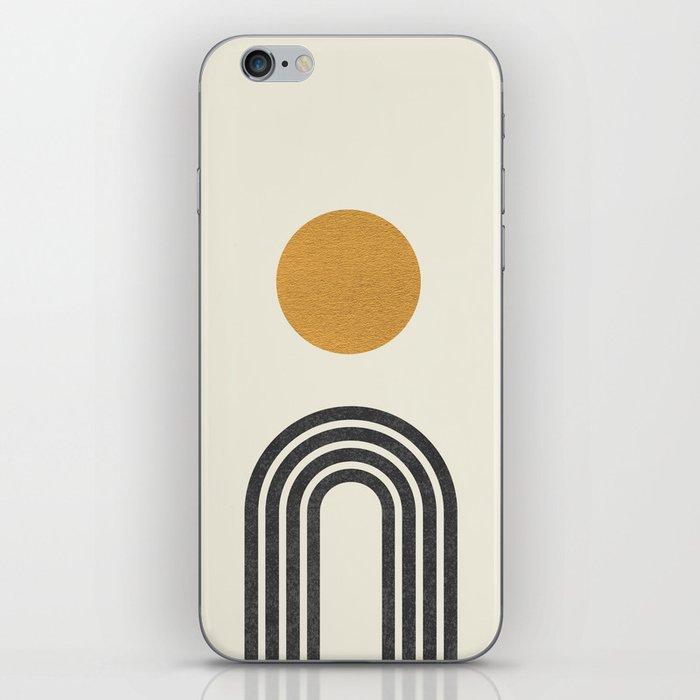 Mid century modern gold iPhone Skin