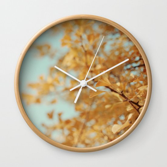 Ginkgo #6 Wall Clock