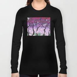 calla lilies & tree swallows Long Sleeve T-shirt