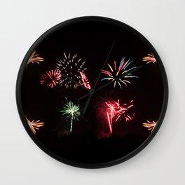 Firework Frenzy Wall Clock