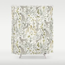 Grey Cheetahs Shower Curtain