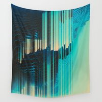 window Wall Tapestries featuring Rain on the Window by DuckyB