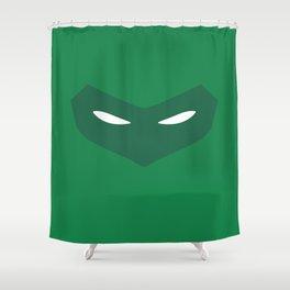 Green Lantern Mask (Hal Jordan) Shower Curtain