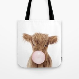Bubble Gum Highland Cow Baby Tote Bag