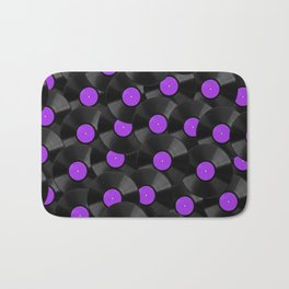 Vinyl Records Pattern (Purple) Bath Mat