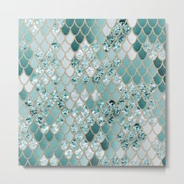 Mermaid Glitter Scales #3 #shiny #decor #art #society6 Metal Print