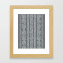 Cable Greys Framed Art Print