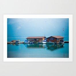 Lake Minnewanka Art Print
