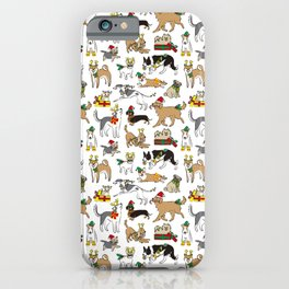 Christmas Dogs iPhone Case