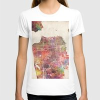 san francisco T-shirts featuring San Francisco map by MapMapMaps.Watercolors