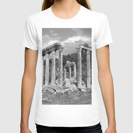 Euromos Ruins Black and White Photography T-shirt