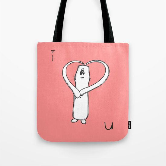 I LOVE U Tote Bag