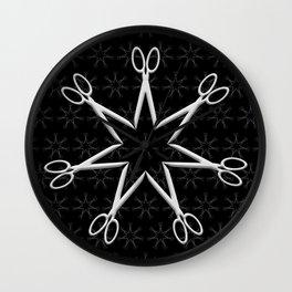 Rockstar Hairstylist (Black) Wall Clock