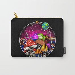Psychedelic Magic Mushrooms Fungi Frog Carry-All Pouch