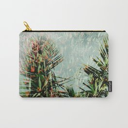Palm Leaf Double Exposure Carry-All Pouch