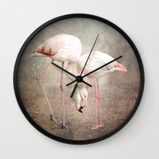 The convoluted conversation of the necks Wall Clock