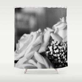 White Roses Shower Curtain