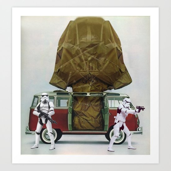 Vader Under Wraps Art Print