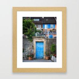 Porte Bleue Framed Art Print