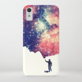 Painting the universe (Colorful Negative Space Art) iPhone Case