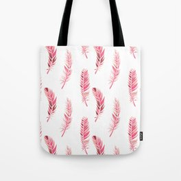 Watercolour Feathers - Coral, Blush and Rose Gold Tote Bag