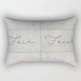 Fair Faced Concrete Rectangular Pillow