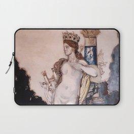 """Gustave Moreau """"Fée aux griffons (grisaille)"""" Laptop Sleeve"""