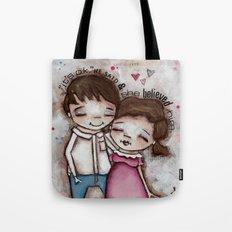 She Believed Him - by Diane Duda Tote Bag