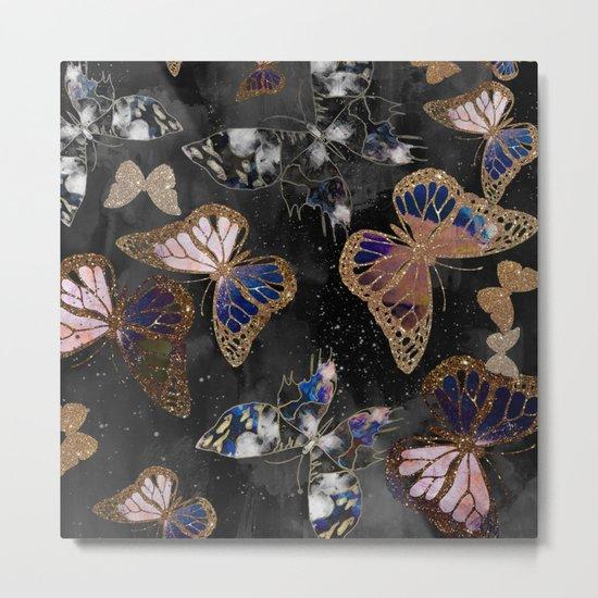 Cosmic Butterflies Metal Print