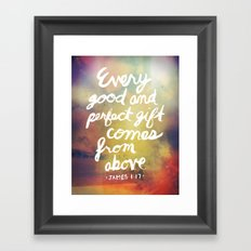 James 1:17 Framed Art Print