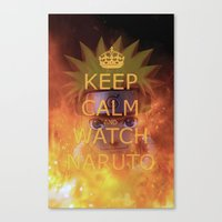 naruto Canvas Prints featuring Naruto by Wis Marvin