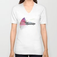 back to the future V-neck T-shirts featuring Back to the Future by avoid peril