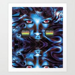 Eyes of Desire [Electric Sex Black Series] Art Print