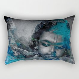 Krishna The mischievous one - The Hindu God Rectangular Pillow