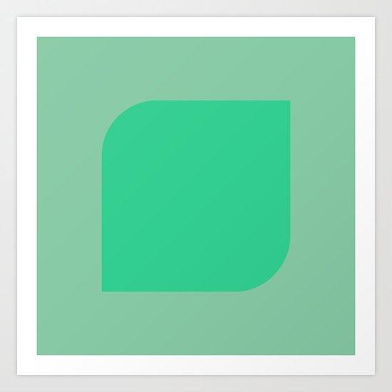 GreenTea Art Print