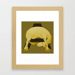 Pony Monogram Letter A Framed Art Print