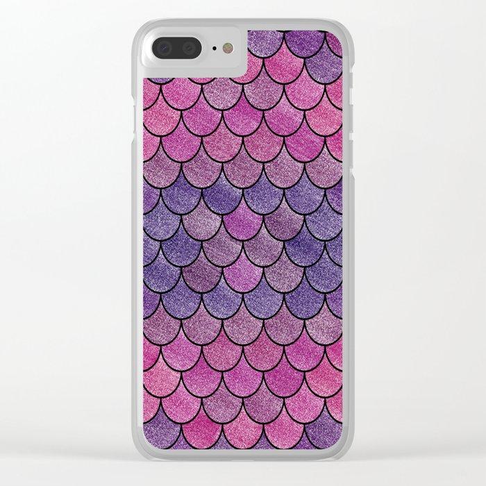 Lovely Pattern V (Glitter Version) Clear iPhone Case